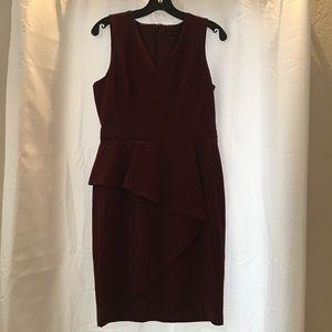 White House Black Market burgundy dress